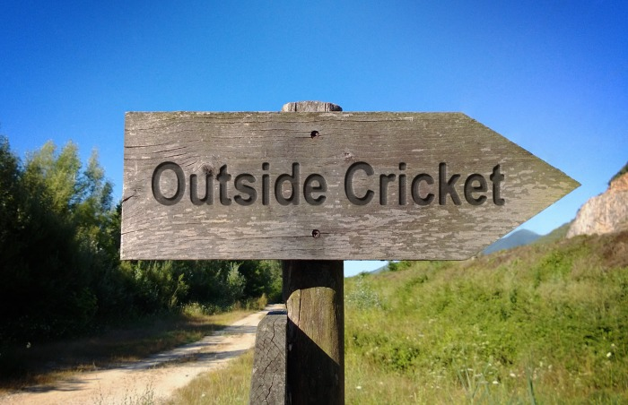 Wooden Outside Cricket Sign