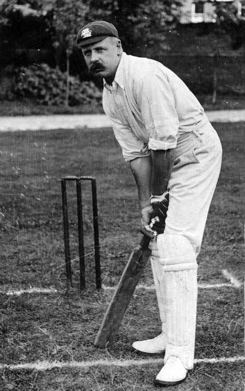 22nd January 1929:  Tom Hayward (1871 - 1939) played for England (1893 - 1914) and Surrey.  (Photo by Hulton Archive/Getty Images)