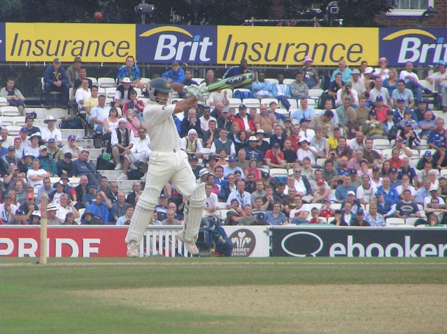 Ricky Ponting in aggressive pose