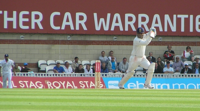 Viru - The Oval - 2011. Hitting the ball for four.